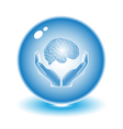 Protection of brain vector image vector image
