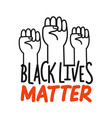 protest banner about human right black people vector image