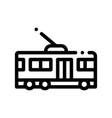 public transport trolley bus sign icon vector image vector image