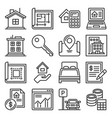 real estate and house seaching icons set vector image