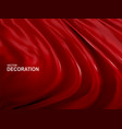 red silk fabric background realistic 3d vector image