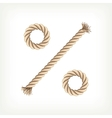 Rope percent vector image vector image