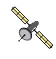 satellite communication connection wave global vector image