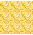 Seamless pattern delicious pastries cookies vector image vector image