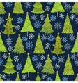 seamless pattern of christmas tree vector image vector image