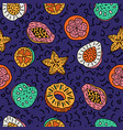 seamless pattern of isolated hand drawn colorful vector image