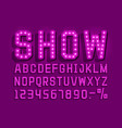 show font vintage light sign set vector image vector image