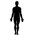 Silhouette of human male vector image