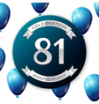 Silver number eighty one years anniversary vector image vector image