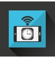 smartphone clock internet wifi icon vector image vector image