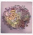 Spa hand lettering and doodles elements background vector image