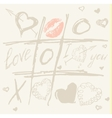 Tic Tac Toe Hearts Valentine background vector image vector image