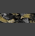 tropical gold and black leaves web banner vector image vector image