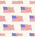 usa flag icon pattern seamless tile vector image vector image