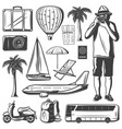 vintage vacation and travel elements set vector image vector image