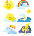 weather symbols vector image vector image
