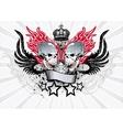 Winged Skull Emblem vector image vector image