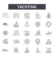 yachting line icons for web and mobile design vector image