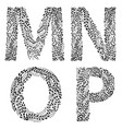 set of letters m n o and vector image