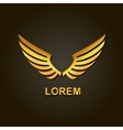 graphic golden wings element vector image