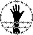 restraint of liberty vector image