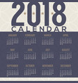 2018 tradition pattern printable calendar vector image vector image
