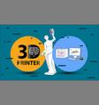 3d printer arms for venus de milo vector image vector image