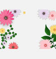 abstract flower background template vector image vector image