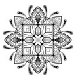 abstract flower mandala vintage decorative vector image