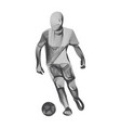 abstract football or soccer player male figure vector image vector image