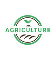 agriculture sprout logo icon design template vector image