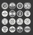 anniversary retro labels 50 years collection 2 vector image vector image