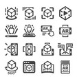 augmented reality icon vector image vector image