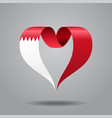 bahrain flag heart-shaped ribbon vector image vector image