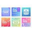 banners with abstract pattern for mid season sale vector image
