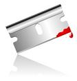 bloody steel blade vector image vector image