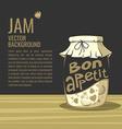 bon appetit jar jam background for your text vector image