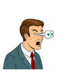 businessman with popping eyes pop art vector image vector image