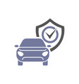 car guard shield sign collision insurance shop vector image vector image