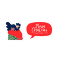christmas and new year best friends hug web banner vector image vector image