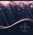 christmas and new year sparkle background vector image vector image