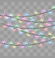 christmas lights effect vector image vector image
