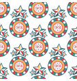 circus vintage signboard labels seamless pattern vector image vector image