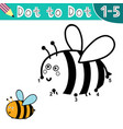 connect digits and draw a funny bee vector image vector image