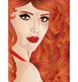 Curly red haired girl vector image vector image