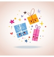 cute gift characters vector image vector image