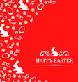 easter hare flower red vector image vector image