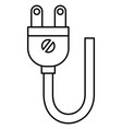 energy plug isolated icon vector image vector image