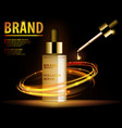 essence translucent contained ads gold makeup vector image vector image