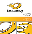 Fire Swoosh Abstract Symbol Branding Design Elemen vector image vector image